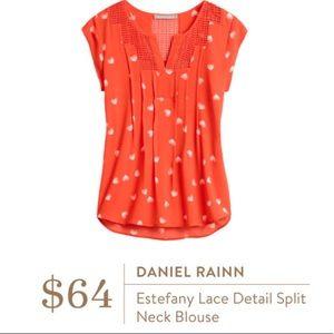 Daniel Rainn Split Neck Blouse